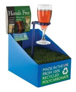 HANDS FREE GLASS HOLDER STAND
