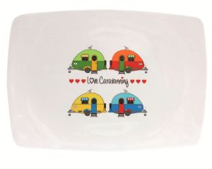 LOVE CARAVANNING RECTANGULAR PLATTER