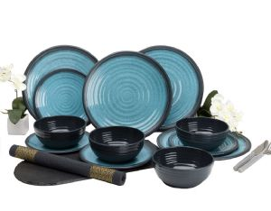 GRANITE AQUA 12PC DINNER SET