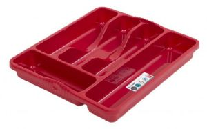 CUTLERY TRAY 33x30 CHILLI RED