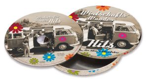 VW T1 MUSIC CD WUNDERHITS IN ROUND METAL GIFT TIN